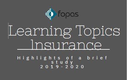 Quels thèmes d'apprentissage dans le secteur d'assurances?